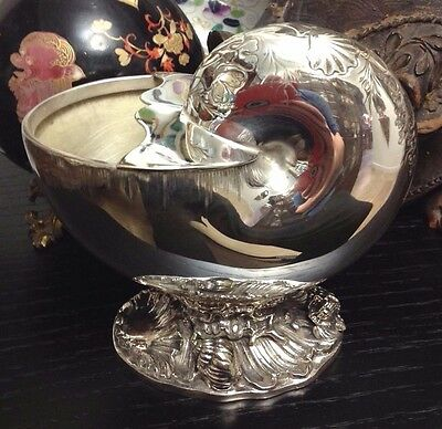 SALE! 19th Century French Victorian Silver Plate Shell