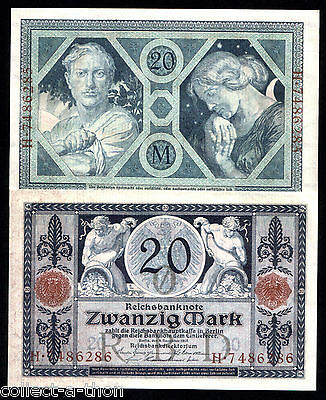 IMPERIAL GERMANY's RAREST MOST BEAUTIFUL WW1 BANKNOTE in GEM CRISP UNCIRC COND!!