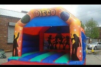 Disco Themed Bouncy Castle With Speaker Pocket