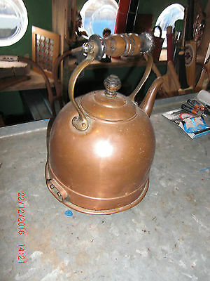 Lovely Small Sized Victorian Copper Kettle ideal prop