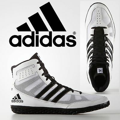 Adidas Mat Wizard 3 White Black Wrestling Shoes Specialist Light Weight Control