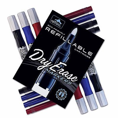 Refillable Dry Erase Whiteboard Markers Pens Ink Cartridges Premium 15 Pc Sets