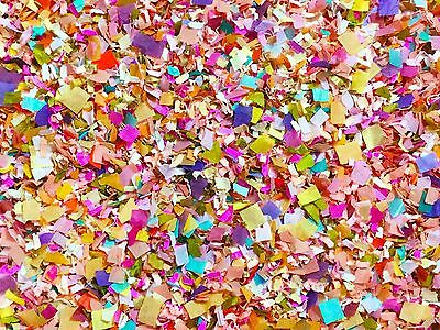 Bright Floral Confetti Biodegradable Party Decorations Multicoloured (25 Guests)