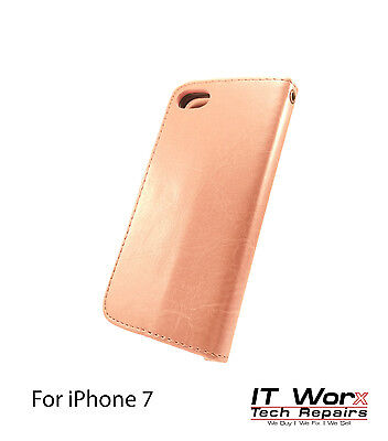 Luxury Magnetic Leather Flip Wallet Case Cover Stand For Apple iPhone 7 - Pink