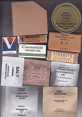Repro Late War Ww2 Us K Ration Supper Meal And Boxes