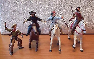 Vintage Papo Horses and Cowboys