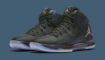 "wholesale dealer 68369 661d7 AIR JORDAN XXXI ASW 905847-004 Black Metallic Silver 31 ""ALL-STAR"" Hornets  Men's"