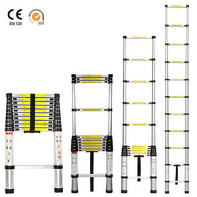 10.5ft Aluminum Telescoping Telescopic Extension Ladder Tall Multi Purpose