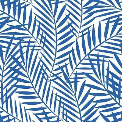 4 x Paper Napkins - Palm Leaves Indigo - Ideal for decoupage / decopatch