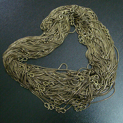 No Stone Chain 100 Pcs  Solid Brass Wholesale Necklace Lot 18 Inches S0882