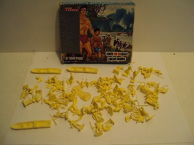 Vintage 1966 AIRFIX England TARZAN Figures HO-OO scale S33-50 OVER 60 PIECES