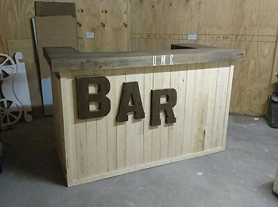 Mobile BAR !! Party event garden wood catering flat pack