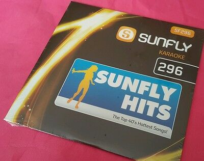 Karaoke CD+G disc, Sunfly Chart Hits Vol 297, see Description 16 tracks/arts
