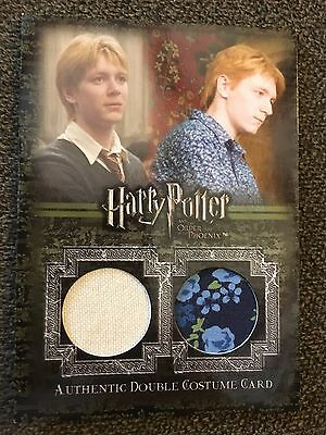 Harry Potter James and Oliver Phelps Fred and George Weasley Double Costume Card