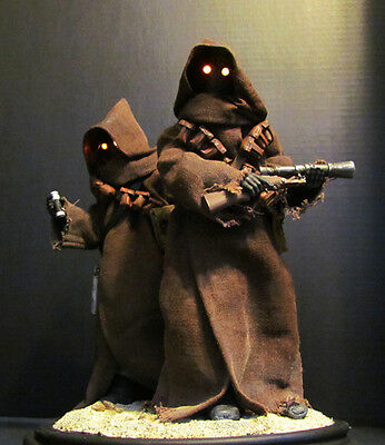 Star Wars Jawa Custom Cloak Handmade for Sideshow Format Statue 1/6  Awesome