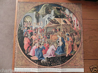 Vtg 1952 National Geographic Fold Out Colour Print - The Adoration Of The Magi