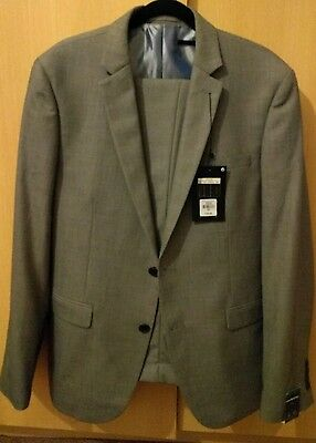 Mens' Brand New Cedarwood State Slim Fit Suit 40s/32s RRP £40