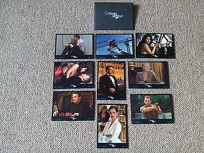 9 Casino Royale Lobby Cards in presentation envelope 007 James bond Daniel Craig