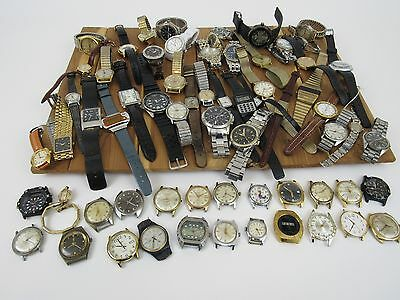 Huge Watch Lot FOR PARTS REPAIR Timex Seiko Fossil Benrus Swatch Waltham Lorus