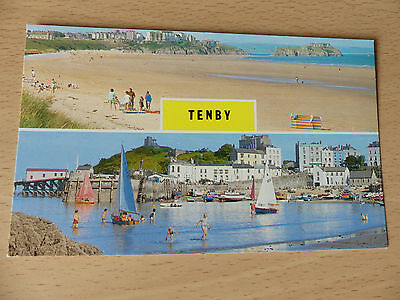 Postcard: Tenby - The South Beach, Harbour & Castle. (Archway) C26