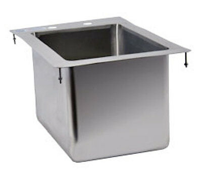 """Commercial Stainless Steel 1 Compartment Drop In Sink 10"""" x 14"""" x 10"""" Bowl"""