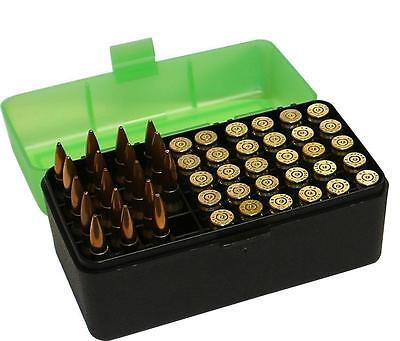 MTM Case-Gard Medium Rifle Ammunition Ammo Box 50 Round RM-50 Green/Black