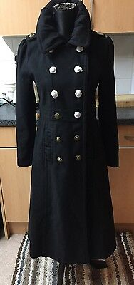 Beautiful   Joe Browns Black Wool Blend Coat Size 10 New With Tags