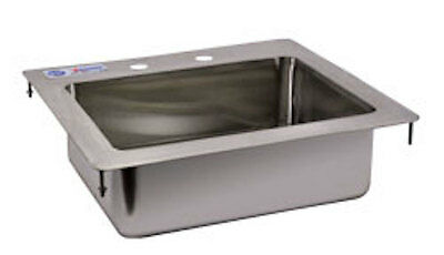 """Commercial Stainless Steel 1 Compartment Drop In Sink 14"""" x 10"""" x 5"""" Bowl"""