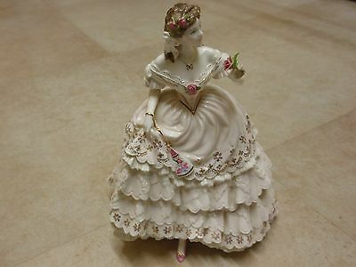 Royal Worcester Figurine 'The Fairest Rose' limited edition,excellent condition