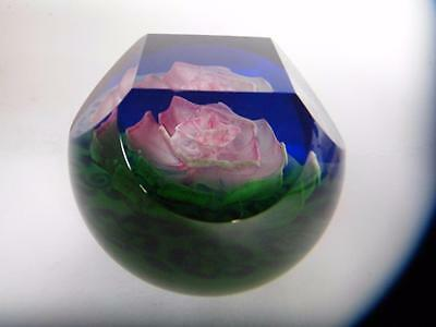 Stunning Bargain Limited Edition  Damask Rose Caithness Paperweight #47
