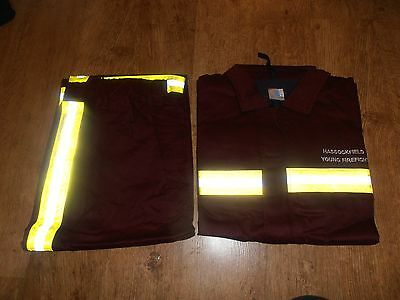 **RARE** Brand New Hassockfield Secure Training Centre Young Firefighters Suit