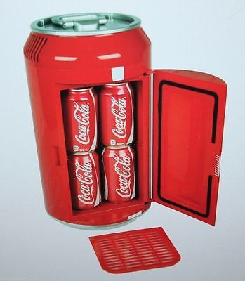 Koolatron Coca-Cola Mini Can Fridge Thermoelectric Cooler Powered by 12V or 110V