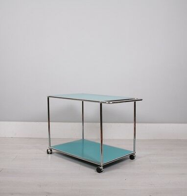 USM Haller Fritz Haller turqouise low drinks trolley