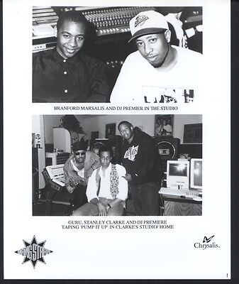 1990S Gang Starr Chrysalis Records Publicity Press Photo
