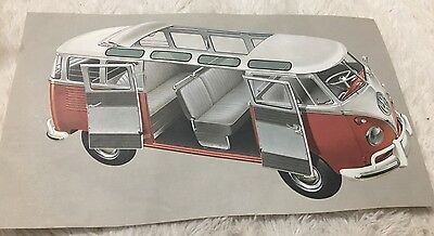 VW Volkswagen bus microbus color photo vintage print ad
