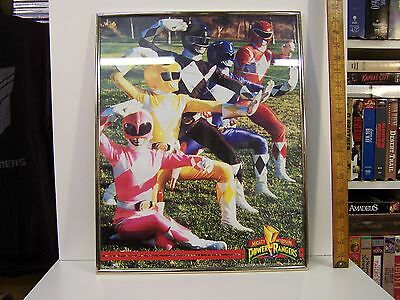 "Mighty Morphin Power Rangers Framed poster 22"" x 16"" 1994"