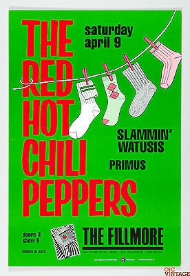 The Red Hot Chilli Peppers 1988 Apr 9 Poster New Fillmore F5 Poster