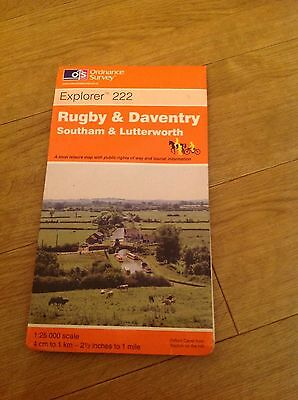 Rugby & Daventry Southam & Lutterworth Ordnance Survey Explorer Maps 222