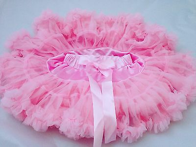 Girls Pink Tutu Pettiskirt Skirt Dance Party Birthday Age 1-2 UK