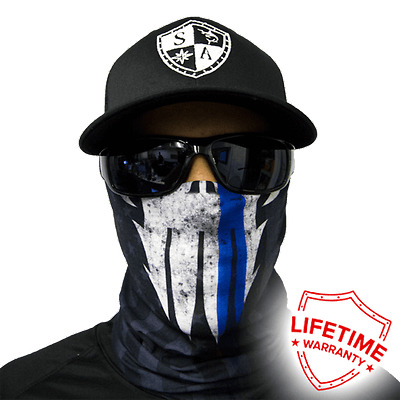 Police Appreciation Face Shield Blue  von SA Company