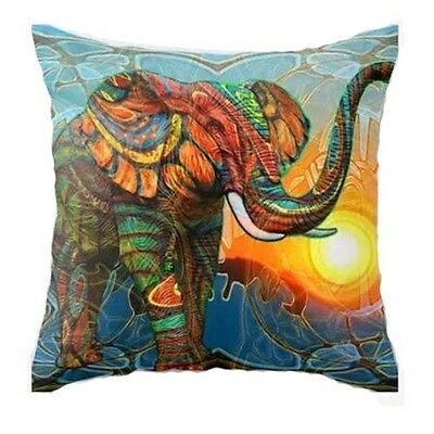 "Sale Big Elephant Home Decor Cotton Linen Cushion Cover Pillowcase 18""/45cm"