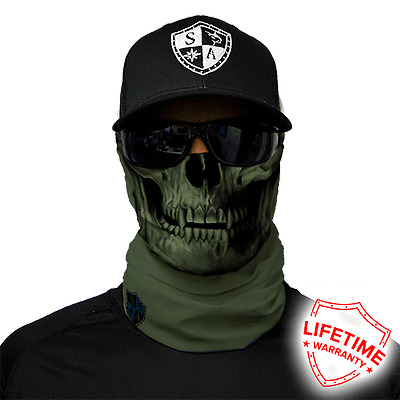 Tactical Face Shield OD Green Skull von SA Company