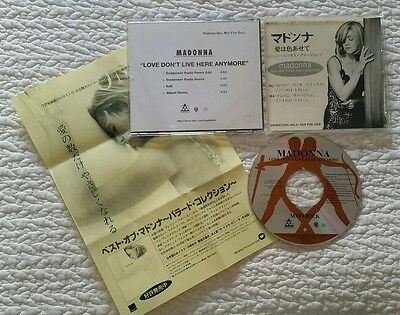 MADONNA LOVE DON'T LIVE HERE ANYMORE CD Single JAPAN PROMO ONLY ALBUM INF SHEET