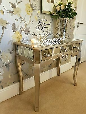 Mirrored Bedroom Furniture Console Table Bedside Tables Drawers French Mirror