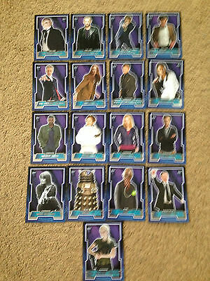Doctor Who 2015 by Topps 17 Card Variant Tardis Logo Base card Set