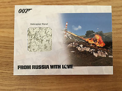 James Bond Archives 2014 Helicopter Panel Relic Card 198/200 JBR43