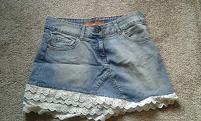 Ladies Denim Skirt with Fabric Bottom Size 12 by Evie