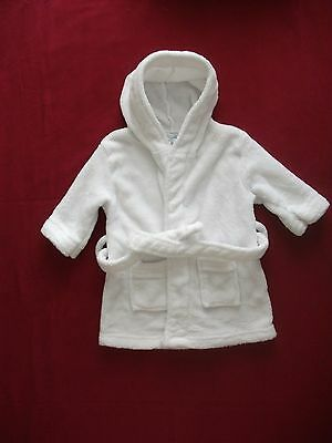 Baby Girls Nursery Time White Dressing Gown Robe Size 12-18 Months