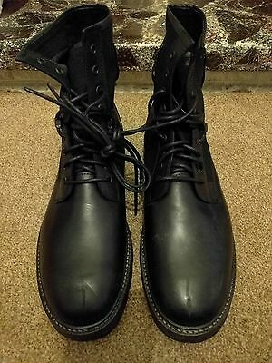 Mens' Brand New Asos Black Leather Boots Size UK 10