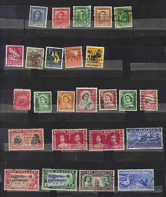 25 New-Zeland stamps pre-1960